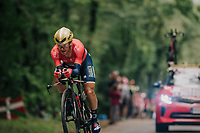 Domenico Pozzovivo (ITA/Bahrain-Merida)<br /> <br /> Stage 20 (ITT): Saint-Pée-sur-Nivelle >  Espelette (31km)<br /> <br /> 105th Tour de France 2018<br /> ©kramon