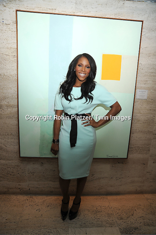 fashion stylist June Ambrose in H & M mint green dress attends The Gotham Magazine 11th Anniversary Party hosted by Sandra Lee  at The Four Seasons Restaurant presented by Bing on February 16, 2012 in New York City.