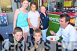 Tasting: Tasting the delights of Celebrity chef Kevin Dundon at Garveys Supermarket in Listowel on Thursday were Sean Ryan & Davin O'Gorman and Shannon Murphy, Zoe O'Gorman & Lisa McCarthy.