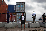 Standing tall: Matilda Parker, manager director, of the port authority, 14 July,2010.