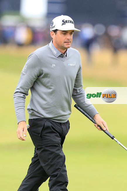 Keegan Bradley (USA) misses his putt on the 2nd green during Saturday's Round 3 of the 145th Open Championship held at Royal Troon Golf Club, Troon, Ayreshire, Scotland. 16th July 2016.<br /> Picture: Eoin Clarke | Golffile<br /> <br /> <br /> All photos usage must carry mandatory copyright credit (&copy; Golffile | Eoin Clarke)