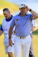 Lee Westwood (ENG) finishes on the 18th green during Thursday's Round 1 of the 2018 Turkish Airlines Open hosted by Regnum Carya Golf &amp; Spa Resort, Antalya, Turkey. 1st November 2018.<br /> Picture: Eoin Clarke | Golffile<br /> <br /> <br /> All photos usage must carry mandatory copyright credit (&copy; Golffile | Eoin Clarke)