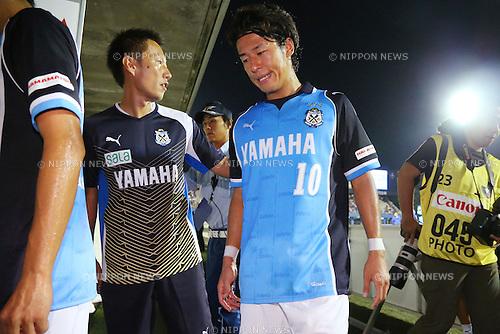 Hiroki Yamada (Jubilo), <br /> August 24, 2013 - Football / Soccer : <br /> 2013 J.LEAGUE Division 1, 22nd Sec <br /> match between Jubilo Iwata 0-0 F.C.Tokyo <br /> at YAMAHA Stadium, Shizuoka, Japan. <br /> (Photo by Daiju Kitamura/AFLO SPORT) [1045]