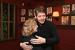 Charlotte Moore with James Barbour attend his Top Secret portrait unveiling at Sardi's on March 10, 2017 in New York City.