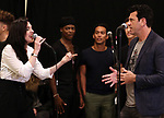 """Lena Hall and Bradley Dean during Jim Steinman's """"Bat Out of Hell - The Musical"""" - Open Rehearsal at New York City Center on July 30, 2019 in New York City."""
