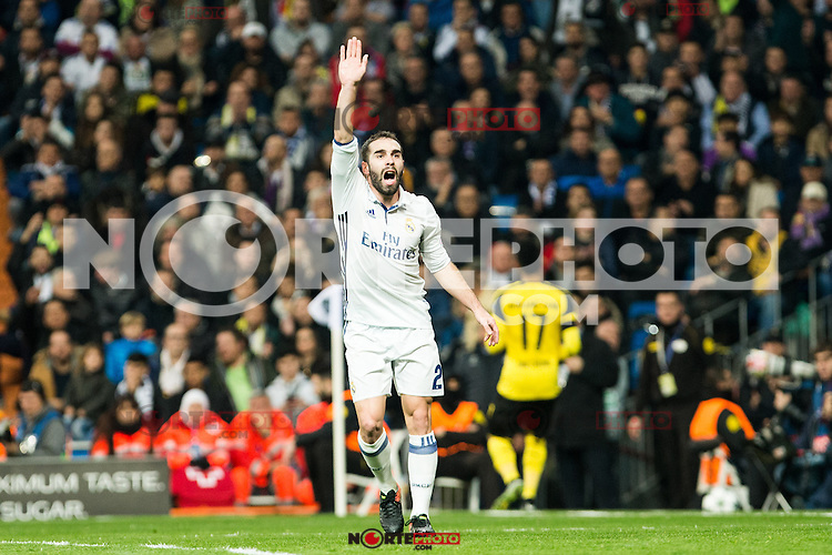 Real Madrid's Daniel Carvajal  during Champions League match between Real Madrid and Borussia Dortmund  at Santiago Bernabeu Stadium in Madrid , Spain. December 07, 2016. (ALTERPHOTOS/Rodrigo Jimenez) /NortePhoto.com