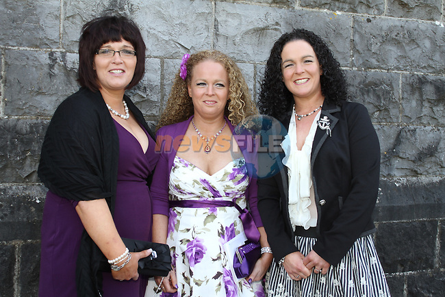 Sarah O'Connor with Tracey and Alison Gough at Tullyallen NS. Confirmation...(Photo credit should read Jenny Matthews www.newsfile.ie)....This Picture has been sent you under the conditions enclosed by:.Newsfile Ltd..The Studio,.Millmount Abbey,.Drogheda,.Co Meath..Ireland..Tel: +353(0)41-9871240.Fax: +353(0)41-9871260.GSM: +353(0)86-2500958.email: pictures@newsfile.ie.www.newsfile.ie.