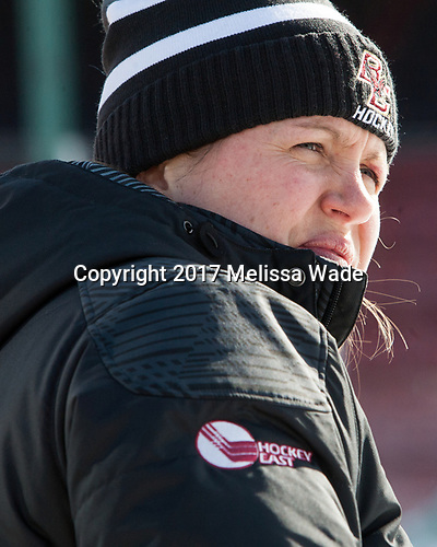 Gillian Apps (BC - Assistant Coach) - The Boston College Eagles practiced at Fenway on Monday, January 9, 2017, in Boston, Massachusetts.Gillian Apps (BC - Assistant Coach) - The Boston College Eagles practiced at Fenway on Monday, January 9, 2017, in Boston, Massachusetts.