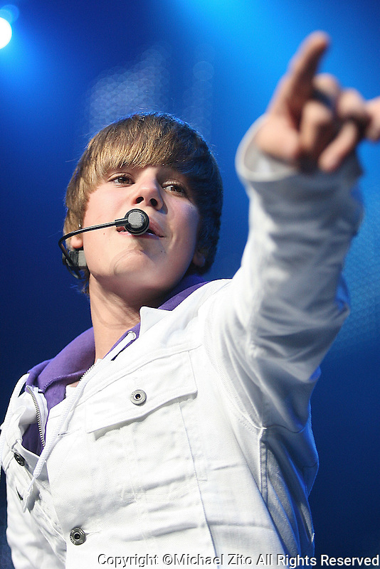 07/20/10 Los Angeles, CA: Justin Bieber performs at the Nokia Theatre  LA Live. Bieber is currently on his My World Tour, presented by Xbox360.