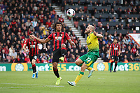 Nathan Aké of Bournemouth and Teemu Pukki of Norwich City both go for the aerial ball during the Premier League match between Bournemouth and Norwich City at Goldsands Stadium on October 19th 2019 in Bournemouth, England. (Photo by Mick Kearns/phcimages.com)<br /> Foto PHC/Insidefoto <br /> ITALY ONLY
