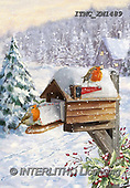 Marcello, CHRISTMAS LANDSCAPES, WEIHNACHTEN WINTERLANDSCHAFTEN, NAVIDAD PAISAJES DE INVIERNO, paintings+++++,ITMCXM1489,#XL# ,red robin