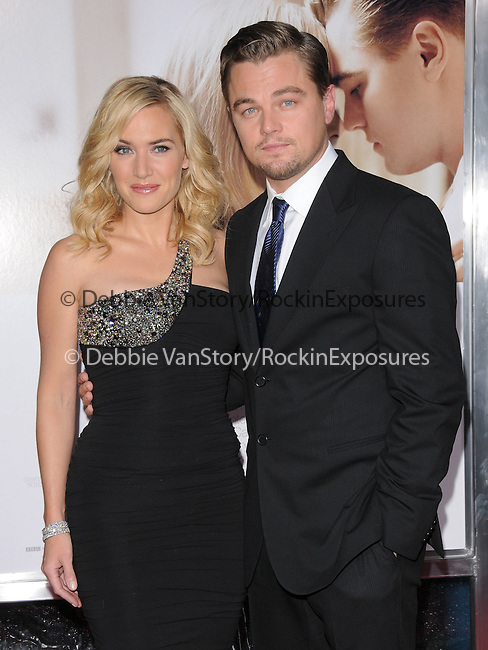 Kate Winslet & Leonardo DiCaprio at the Paramount Vantage World Premiere of Revolutionary Road held at The Mann Village Theatre in Westwood, California on December 15,2008                                                                     Copyright 2008 Debbie VanStory/RockinExposures