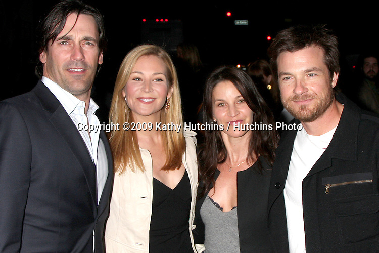 "Jon Hamm, Jennifer Westfeldt, Jason Bateman & Wife  arriving at the ""I Love You, Man"" Premiere at the Mann Village Theater in Westwood, CA on  March 17, 2009 .©2009 Kathy Hutchins / Hutchins Photo...                ."