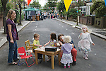 Street Party. The Big Lunch. Brunswick Street Walthamstow Village London E17 England 2009.
