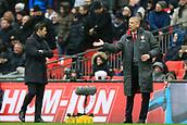 10th February 2018, Wembley Stadium, London England; EPL Premier League football, Tottenham Hotspur versus Arsenal; Arsenal Manager Arsene Wenger