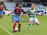 Drogheda United Lloyd Buckley Shamrock Rovers Ryan Connolly. Photo:Colin Bell/pressphotos.ie