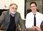 Judd Hirsch, Tom Cavanagh in rehearsal for 'Freud's Last Session'. Judd Hirsch as Sigmund Freud and Tom Cavanagh as C. S. Lewis under the direction of Tyler Marchant at the Davenport Studios in New York City on December 17, 2012