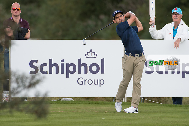 Fabrizio Zanotti (PAR) in action on the 6th hole during the 2nd round at the KLM Open, The International, Amsterdam, Badhoevedorp, Netherlands. 13/09/19.<br /> Picture Stefano Di Maria / Golffile.ie<br /> <br /> All photo usage must carry mandatory copyright credit (© Golffile | Stefano Di Maria)