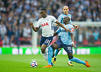 Tottenham's Victor Wanyama and Newcastle's Mohamed Diame during the EPL - Premier League match between Tottenham Hotspur and Newcastle United at Wembley Stadium, London, England on 9 May 2018. Photo by Andrew Aleksiejczuk / PRiME Media Images.
