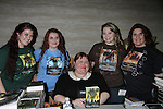 Author Cassandra Clare (so many fans in her line all day) poses with Melinda, Ashley, Morgan and Donna O'Brien (R) at Romantic Times Booklovers Annual Convention 2011 - The Book Industry Event of the Year - April 9, 2011 at the Westin Bonaventure, Los Angeles, California for readers, authors, booksellers, publishers, editors, agents and tomorrow's novelists - the aspiring writers. (Photo by Sue Coflin/Max Photos)