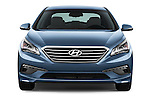 Car photography straight front view of a 2016 Hyundai Sonata Eco 4 Door Sedan Front View