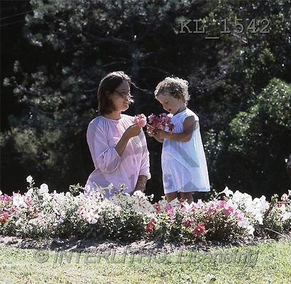 Interlitho, CHILDREN, photos, mother, girl, flowers(KL1542,#K#) Kinder, niños