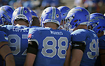 November 4, 2017:  Air Force Academy players prior to the NCAA Football game between the Army West Point Black Knights and the Air Force Academy Falcons at Falcon Stadium, United States Air Force Academy, Colorado Springs, Colorado.  Army West Point defeats Air Force 21-0.