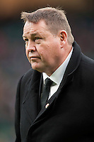 Steve Hansen, New Zealand Coach, before the QBE International match between England and New Zealand at Twickenham Stadium on Saturday 8th November 2014 (Photo by Rob Munro)