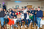 John O'Brien, seated centre, from Tralee, celebrated his 21st birthday last Saturday night in the kerins O'Rahilly's GAA clubhouse, Tralee surrounded by many friends and guests.