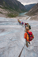 Gletscher, Gletscherwanderung, Gletscher-Wanderung, Festlandsgletscher, Eis, Nigardsbreen, Nigardbreen, Jostedalsbreen, Jostetal, Jostedalsbreen-Nationalpark, Nationalpark, Norwegen. Nigardsbreen, Jostedalsbreen glacier, glacier hike, Glacier walk, Jostedal Glacier, glacier, ice, Norway