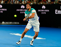 Maric Cilic of Croatia in action on Day 14 of the Australian Open