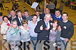 Dan McCarthy celebrates with his team at the count in Killarney on sunday front row l-r: Maurice Reilly. Bridie, Shane, Dan and Amanda McCarthy. Back row: Mary O'Leary, Edward, Denis, Stephen Mccarthy, Patrick O'sullivan, Donald lynch and David Hanly