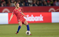 CARSON, CA - FEBRUARY 7: Becky Sauerbrunn #4  of the United States passes off the ball during a game between Mexico and USWNT at Dignity Health Sports Park on February 7, 2020 in Carson, California.