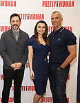 Steve Kazee, Samantha Barks and Jerry Mitchell attends the photo call for the New Broadway Bound Musical 'Pretty Woman' on January 22, 2018 at the New 42nd Street Studios in New York City.