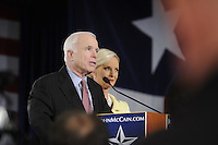John McCain, U.S. senator from Arizona and 2008 Republican presidential candidate, holds a campaign party in Dallas, Texas, U.S., on Tuesday, March 4, 2008. Voters in Texas go to the polls on Tuesday, March 4, to vote in the Democratic and Republican primaries.