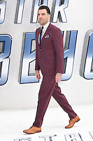 "Zachary Quinto<br /> arrives for the ""Star Trek Beyond"" premiere at the Empire Leicester Square, London.<br /> <br /> <br /> ©Ash Knotek  D3140  12/07/2016"