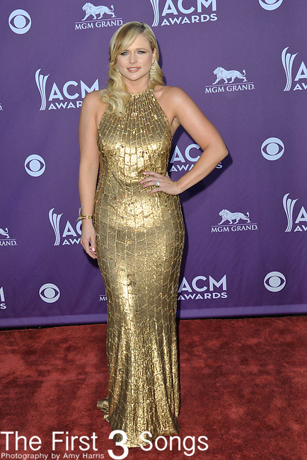 Miranda Lambert attends the 47th Annual Academy of Country Music Awards in Las Vegas, Nevada on April 1, 2012.