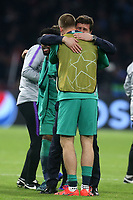 A tearful Tottenham Hotspur manager:Mauricio Pochettino with Eric Dier of Tottenham Hotspur after AFC Ajax vs Tottenham Hotspur, UEFA Champions League Football at the Johan Cruyff Arena on 8th May 2019