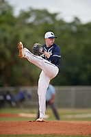 Bethel Wildcats starting pitcher Connor Malcolm (1) during the first game of a double header against the Edgewood Eagles on March 15, 2019 at Terry Park in Fort Myers, Florida.  Bethel defeated Edgewood 6-0.  (Mike Janes/Four Seam Images)
