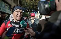 Greg Van Avermaet (BEL/BMC) post-race interview<br /> <br /> 106th Milano - San Remo 2015