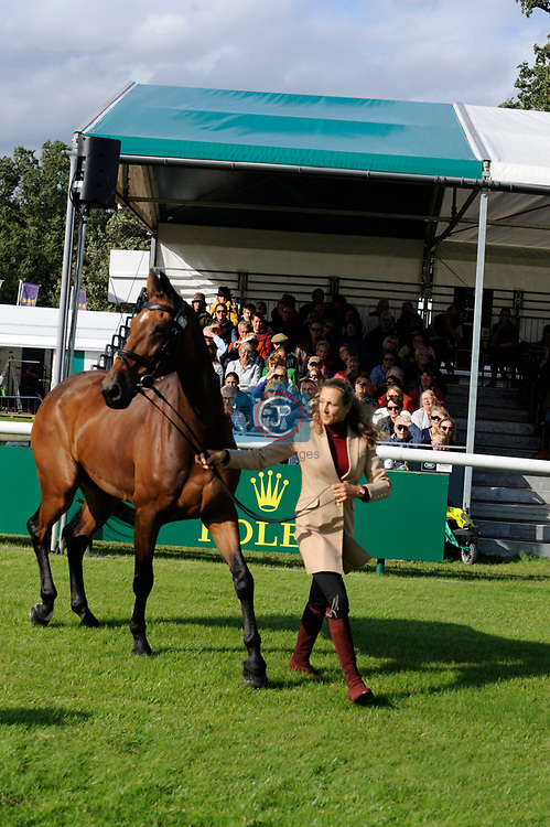 Stamford, Lincolnshire, United Kingdom, 4th September 2019, Sarah Bullimore (GB) & Reve Du Rouet during the 1st Horse Inspection of the 2019 Land Rover Burghley Horse Trials, Credit: Jonathan Clarke/JPC Images