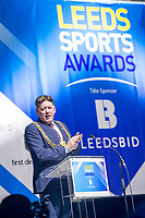 Picture by Allan McKenzie/SWpix.com - 07/03/2017 - Commercial - Leeds Sports Awards 2017 - First Direct Arena, Leeds, England - Leeds Sports Awards, The Brief, Councillor Gerry Harper, mayor of Leeds, addresses the guests.
