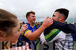 Ray Galvin Lixnaw players celebrate after winning the Kerry County Senior Hurling championship Final at Austin Stack Park on Sunday.