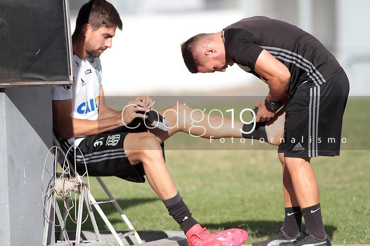 CAMPINAS, SP 16.04.2018-PONTE PRETA- Jogador Luan Peres durante treino da Ponte Preta no Estadio Moises Lucarelli, na cidade de Campinas (SP), nesta segunda-feira (16). (Foto: Denny Cesare/Codigo19)