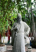 A statue of Zhao Ding at Five Lord Temple, also known as Wugong Temple and Five Officials' Temple in Haikou city, Hainan Island, China. This was constructed to commemorate the five famous officials- Li Deyu, Li Gang, Zhao Ding, Li Guang and Hu Quan who were banished to Hainan during the Tang Dynasty (618-907) and the Song Dynasty (960-1279). .14 Jan 2005