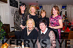 Scor Ladies Na Gaeil enjoying their Christmas party on Saturday night at the Stonehouse. Front l-r  Jenny Sheehy, Margaret Doody, Mary Quirke, Mary Ellen O'Connor, Cathy Carey and Cait O'Connor