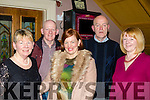 All those Years<br /> --------------------<br /> Past Pupils from Ballymacthomas and Flemby National schools got together in O'Riada's, Ballymac, last Saturday for the 150 and 50th anniversary celebrations, L-R Kay Kerins, Brendan O'Sullivan, Sinead Joy, Paudie McLoughlin and Pauline Evans.