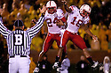 08 October 2009:  Nebraska wide receiver Niles Paul  and Menelik Holt celebrate Nebraska's first touch down in the fourth quarter on a 56 yard pass play to Paul against Missouri at at Memorial Stadium, Columbia, Missouri. Nebraska defeated Missouri 27 to 12.