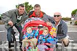 Family fun at the Chaplin Festival in Waterville pictured front l-r; Evan & Ryan Breen, back l-r; David Clifford, John Cronin & Sean Clifford.