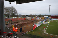 Demolition work continues at the north end of the ground during Stevenage vs Crewe Alexandra, Sky Bet EFL League 2 Football at the Lamex Stadium on 10th March 2018